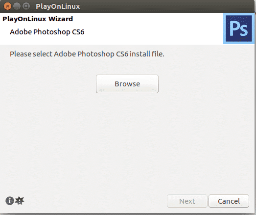 установка photoshop playonlinux