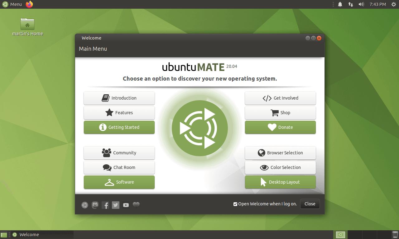 ubuntu mate 20.04 lts