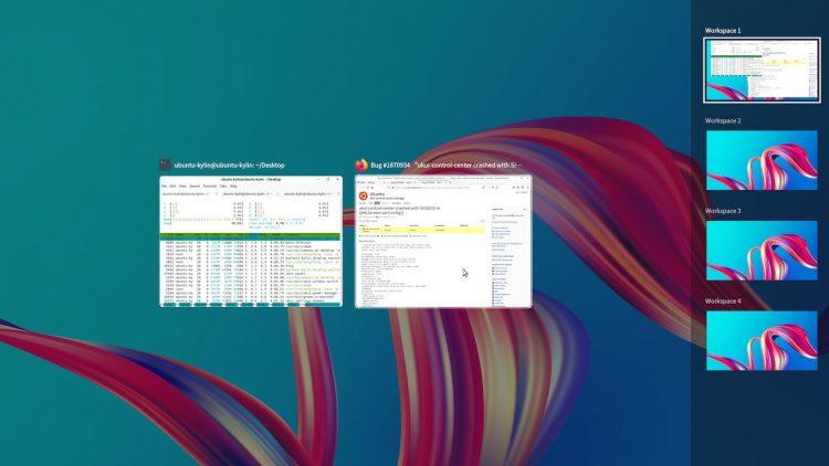 рабочие столы ubuntu kylin