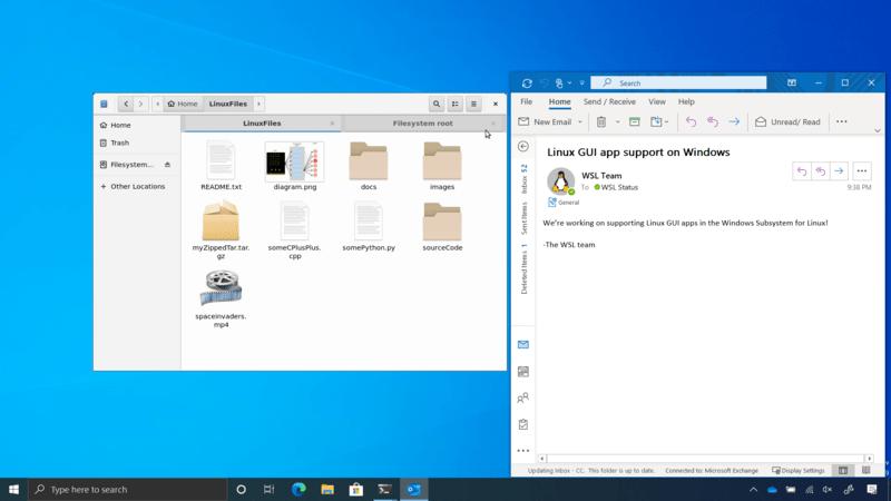 Linux-GUI-app-Windows-WSL