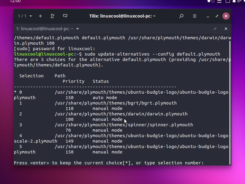 plymoutn theme ubuntu