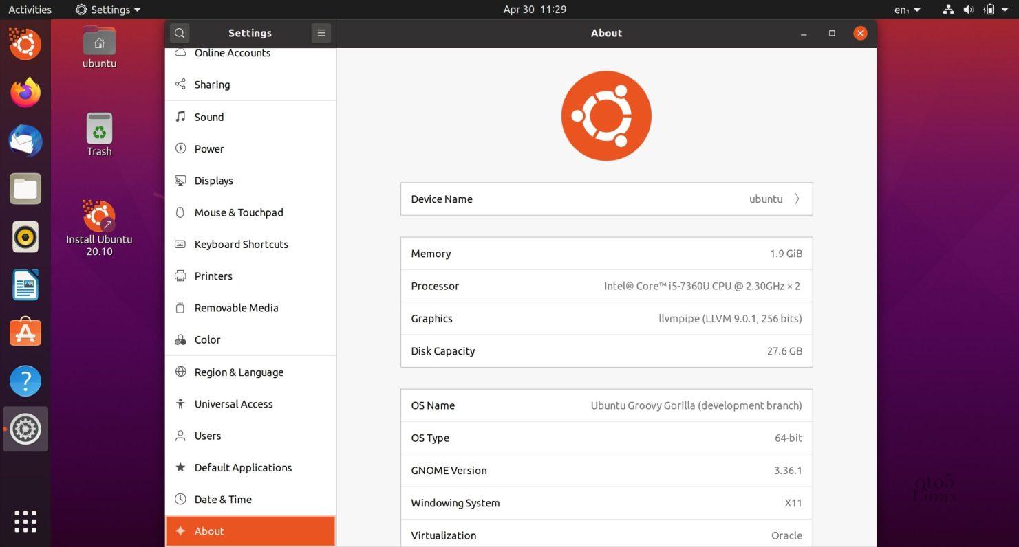 Ubuntu-20.10